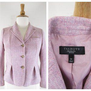 Talbots Petite Lavender Pink Wool Blazer Jacket